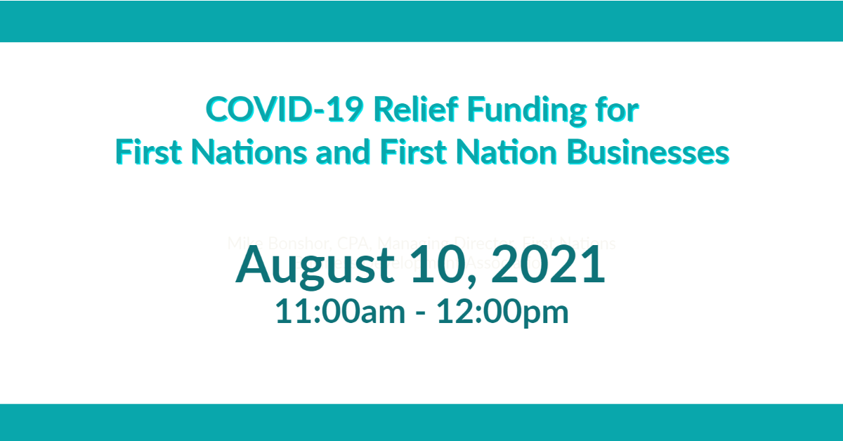 COVID-19 Relief Funding forFirst Nations and First Nation Businesses