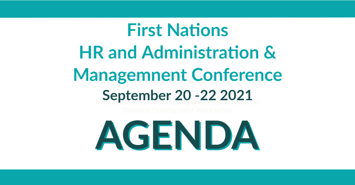 First Nations HR and Administration & Management Conference: Agenda
